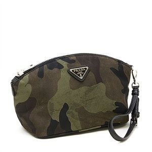 668b79b7a0 [Prada] Camouflage Cosmetic Travel Pouch NWOT